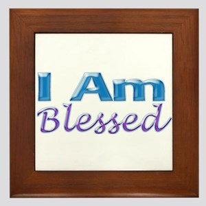 I Am Blessed Framed Tile