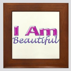 I Am Beautiful Framed Tile