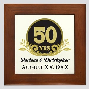 50th Anniversary Personalized Framed Tile