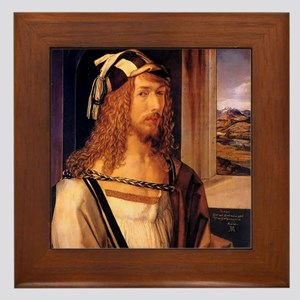 Albrecht Durer Self Portrait Framed Tile