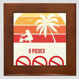 Beach Clean-Up Shirt: Up 5 Pieces Of P Framed Tile