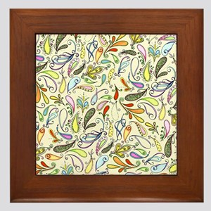 Crazy For Paisley Framed Tile