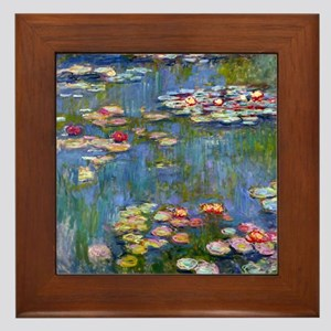 Water Lilies 1916 by Claude Monet Framed Tile
