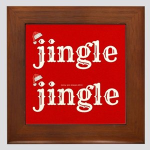 Santa Jingle Framed Tile