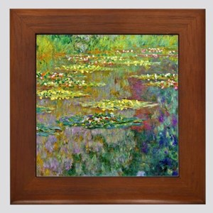 Water lilies by Claude Monet Framed Tile
