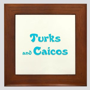 Turks and Caicos Framed Tile