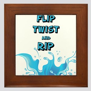 Flip, Twist and Rip Framed Tile
