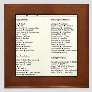 Boston-English Dictionary Framed Tile