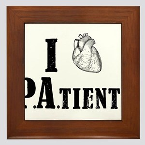 I Heart Patients Framed Tile