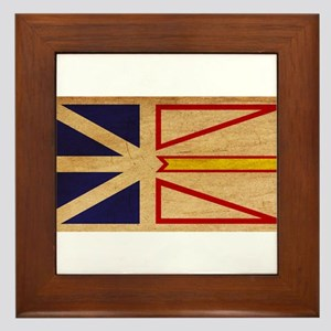 Newfoundland Flag Framed Tile