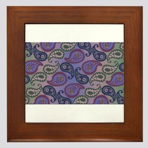 Textured Paisley Framed Tile