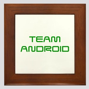 TEAM-ANDROID-SAVED-GREEN Framed Tile