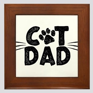 Cat Dad Framed Tile