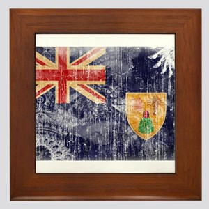 Turks and Caicos Flag Framed Tile
