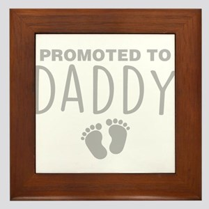 Promoted To Daddy Framed Tile