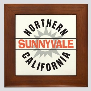 Sunnyvale California Framed Tile