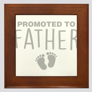 Promoted To Father Framed Tile