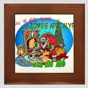 Twas the Night Before Zombie Framed Tile