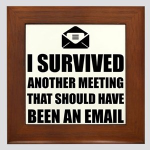 Meeting Email Framed Tile
