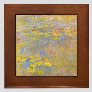 Water Lilies Yellow Nirvana Framed Tile