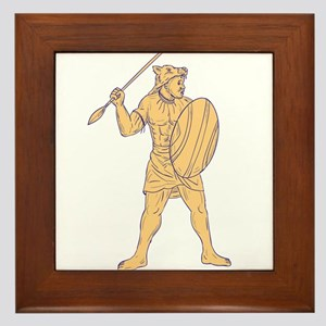 African Shield And Spear Wall Art - CafePress