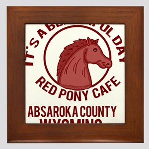 Red Pony Cafe Framed Tile