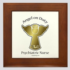 Psychiatric Nurse Framed Tile GA