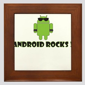 Android Rocks Framed Tile