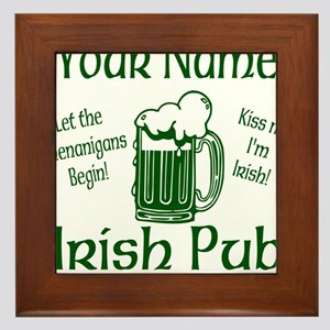Custom Irish pub Framed Tile