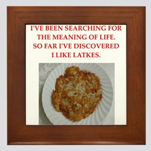latkes Framed Tile