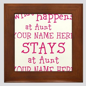 Aunts House Framed Tile