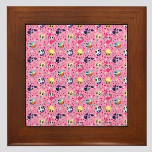 MLP Pattern Pink Framed Tile