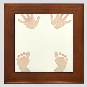 Baby_Hands_and_Feet_Maternity_Exc1 Framed Tile