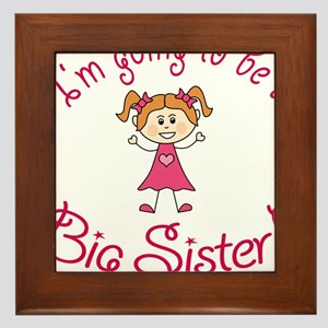 Im going to be a Big Sister! Framed Tile