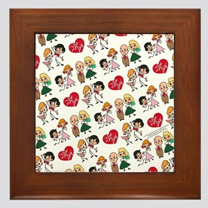 I Love Lucy Character Stick Figures Framed Tile