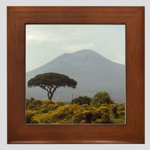 Powerful Nature Mount Vesuvius Italy Framed Tile