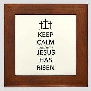 Risen Jesus Framed Tile