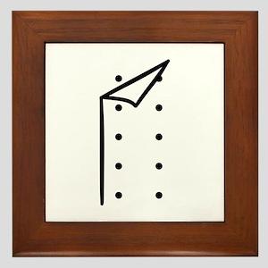 Chef uniform Framed Tile