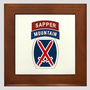 10th Mountain Sapper Framed Tile