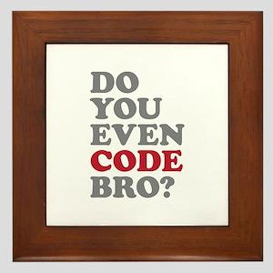 Do You Even Code Bro Framed Tile