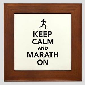 Keep calm and Marathon Framed Tile