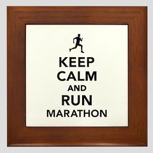 Keep calm and run Marathon Framed Tile