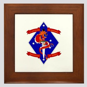 1st Battalion - 4th Marines Framed Tile