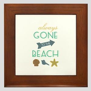 To The Beach Framed Tile