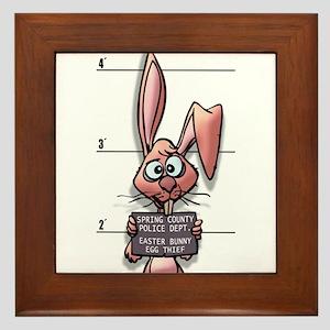 Easter Bunny Mugshot Framed Tile