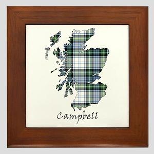 Map-Campbell dress Framed Tile