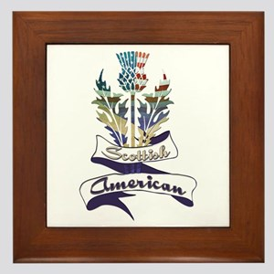 Scottish American Thistle Framed Tile