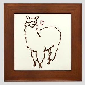 Cute Alpaca Framed Tile