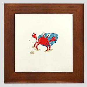 Dancing Crab Framed Tile