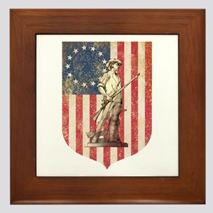 Concord Minuteman, Shield Framed Tile